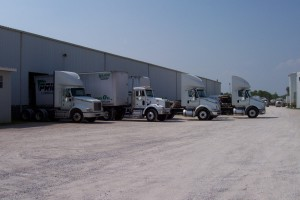 DFI Trucks in warehouse